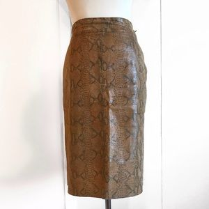 NWOT Rampage Leather Snakeprint Skirt  4